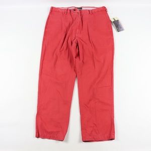 New Orvis Mens 38x30 Signature Twill Pants Red